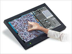 DSX500i Microscope GUI touch screen capability operation