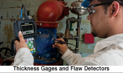 thickness gages and flaw detector
