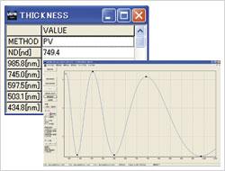 Film Thickness Measurement Screen-shot