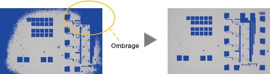 Image entière claire: correction de l'ombrage