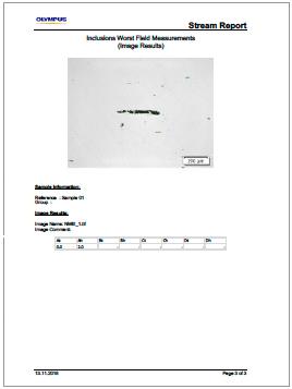 一项ASTM E112分析的结果