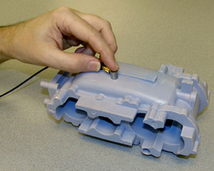 Measuring Thickness of Wax Molds for Precision Castings