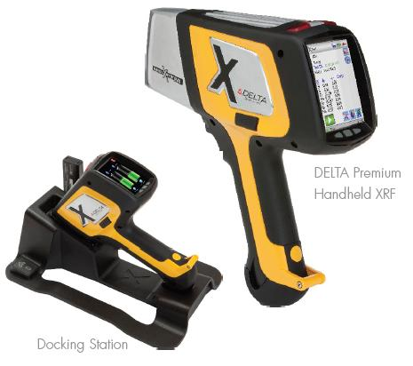 Delta Handheld XRF in docking station