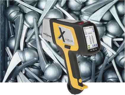 Delta Handheld XRF with metal