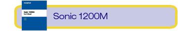 sonic 1200m manual
