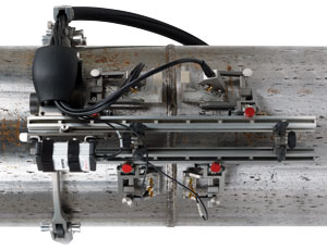 The ChainSCANNER provides a manual pipe-inspection solution for pipes ranging from 45 mm to 965 mm OD (1.75 to 38 in. OD).