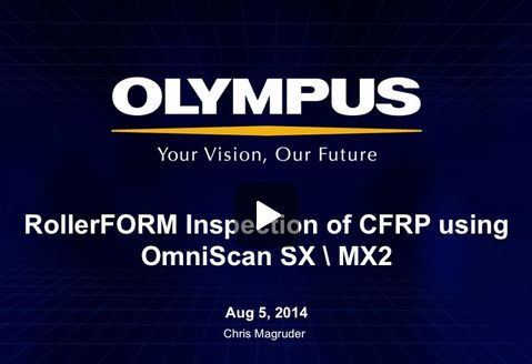 Webinar - Fast Immersion-free CFRP Inspection using the new Olympus Phased Array Wheel Probe